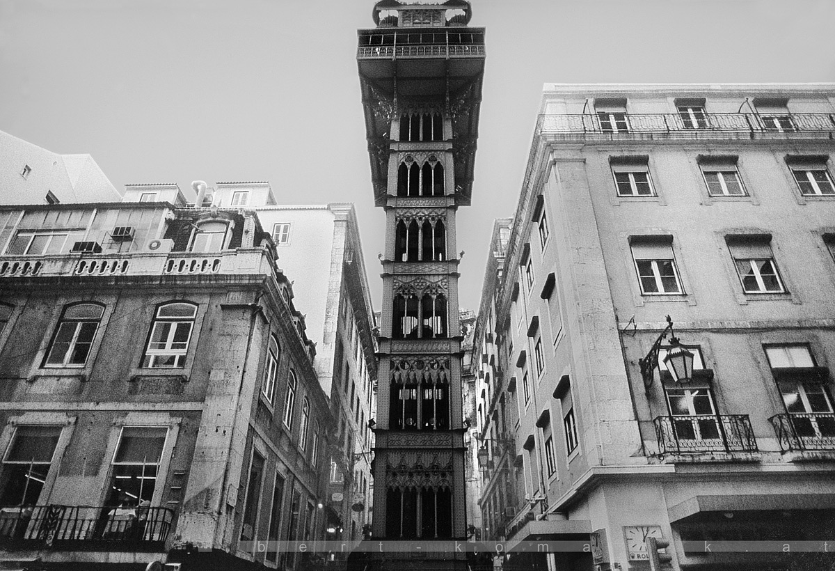 Monsieur Gustave Eiffel's Legacy - Elevador de Santa Justa, Lisbon / Portugal 1996