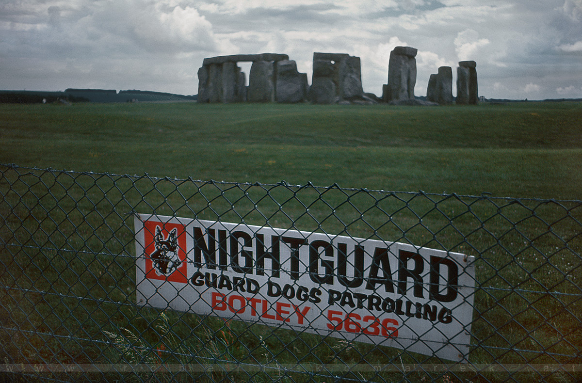 Guard Dogs Patrolling - Stonehenge, Wiltshire / UK 1986