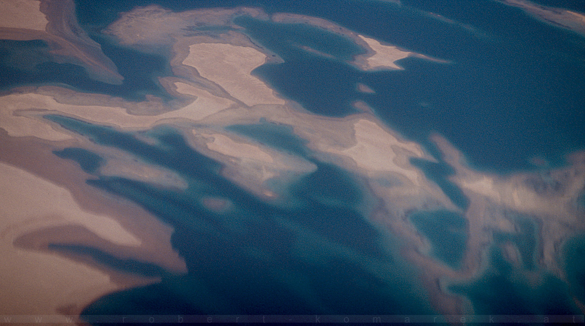 Abstract - Somalian Coast shot from travel altitude 40000 ft / Somalia 1998