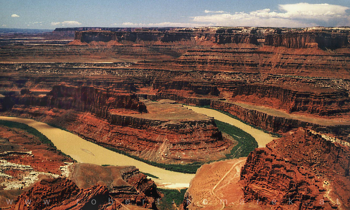 Meander - Dead Horse Point/Colorado River; Temperature: 122°F / 50°C , Utah / U.S.A. 1992